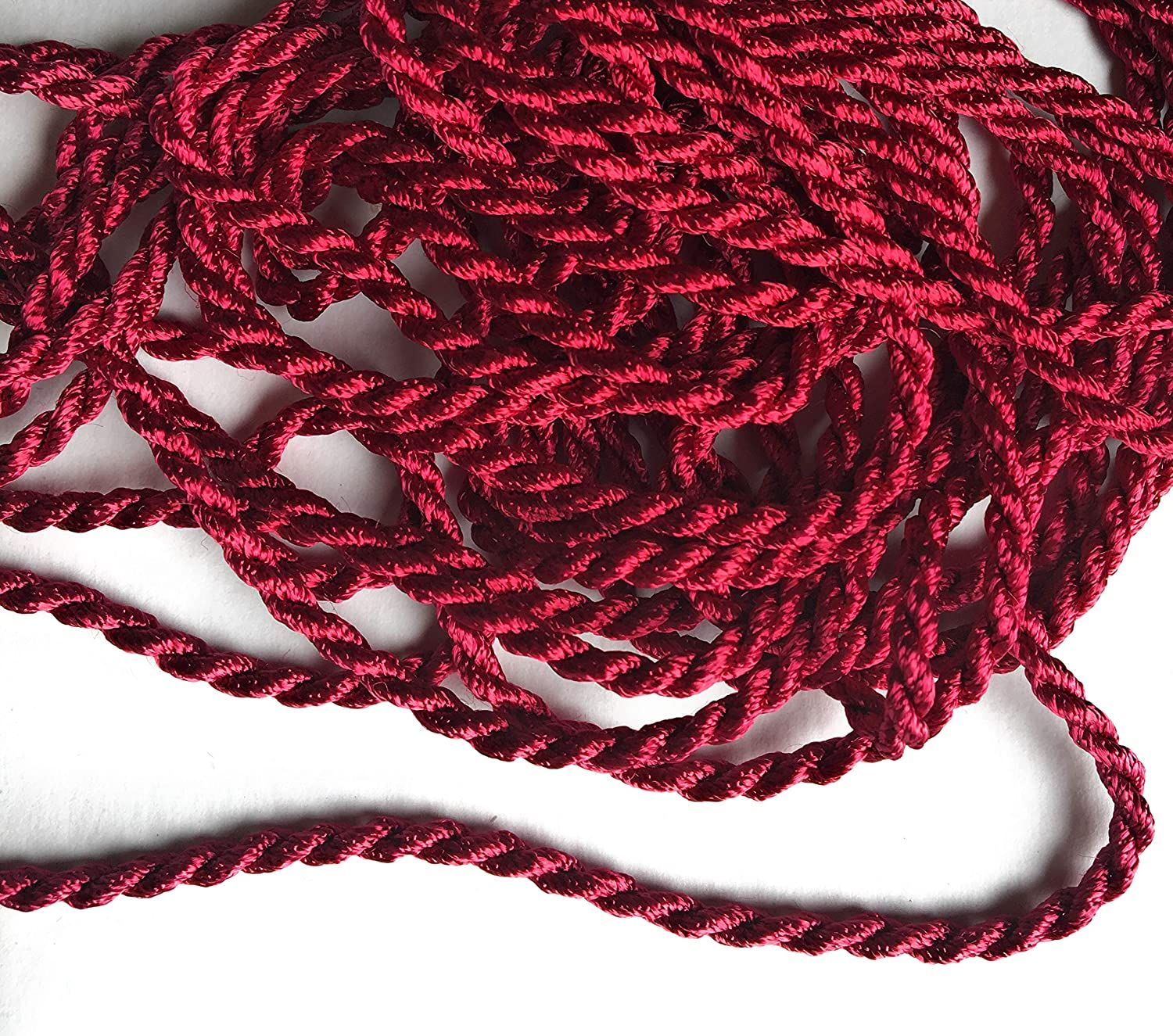Beauty Rose Cord Twisted Trims 3//8 Decorative Twisted Rope 5 Yards 8mm