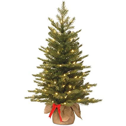 National Tree 3 Foot Feel Real Nordic Spruce Tree with 50 Warm White  Battery Operated LED - Amazon.com: National Tree 3 Foot Feel Real Nordic Spruce Tree With
