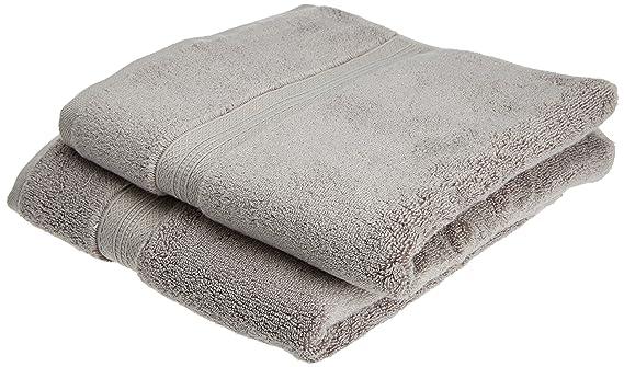 Pinzon - Juego de toallas de algodón Pima (2 toallas de mano), color platino: Amazon.es: Hogar