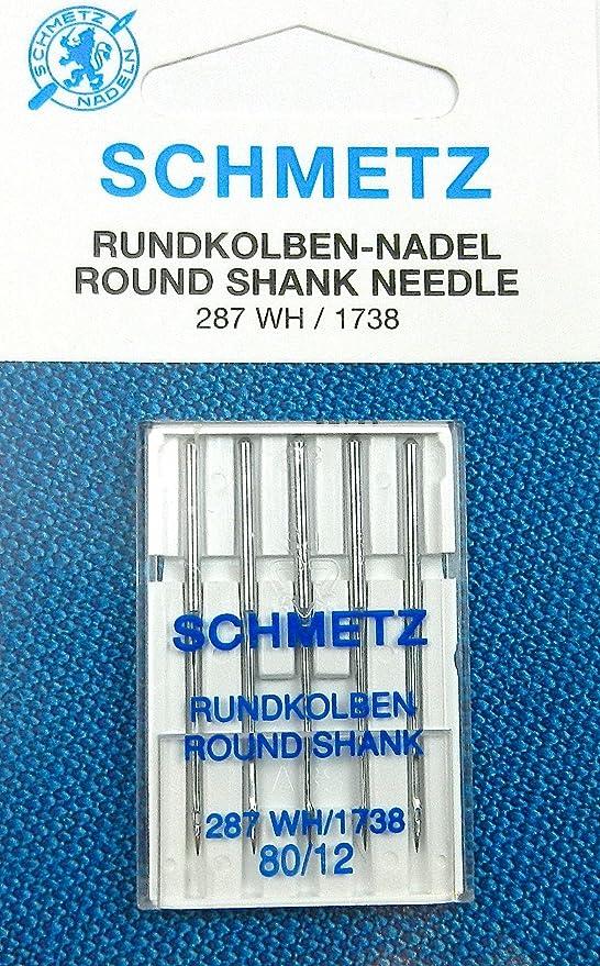 5 agujas para máquinas de coser Schmetz (pistón redondo) 287 WH ...