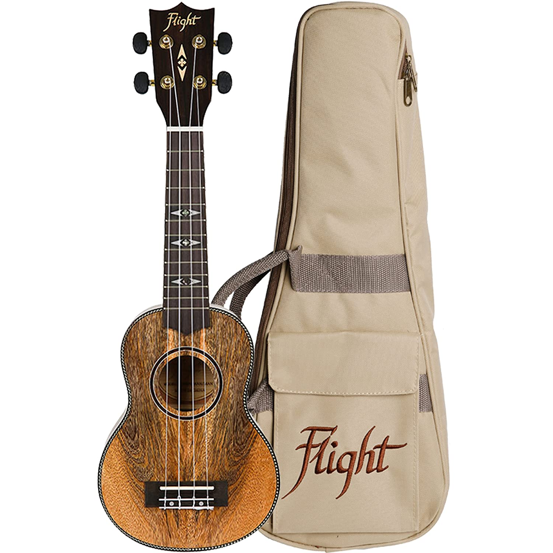 Flight: DUS450 Soprano Ukulele - Mahogany (With Bag). For ウクレレ   B07CX617JB
