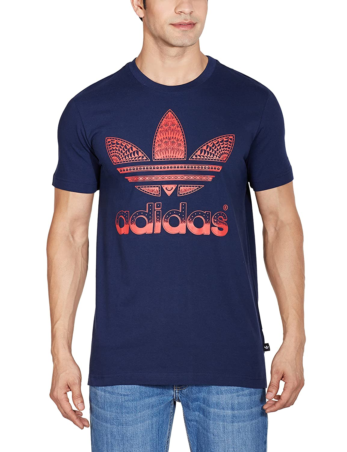 adidas - Shirts - Trefoil Fill-In Graphic Tee - Blue - XS