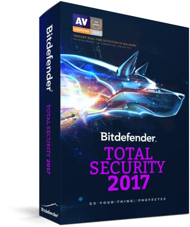 Bitdefender Total Security 2017 | 10 Devices, 1 Year | PC, Mac | Download [Online Code]