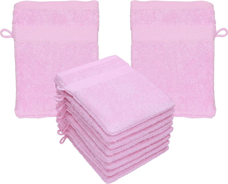 Betz Paquete de 10 Manoplas de baño Palermo 100% algodón tamaño 16x21 cm (Rosa): Amazon.es: Hogar