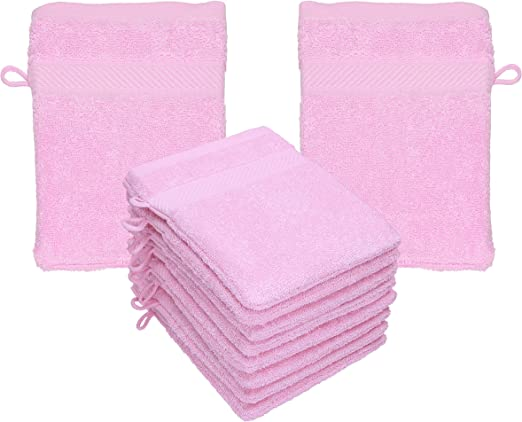Betz Paquete de 10 Manoplas de baño Palermo 100% algodón tamaño ...