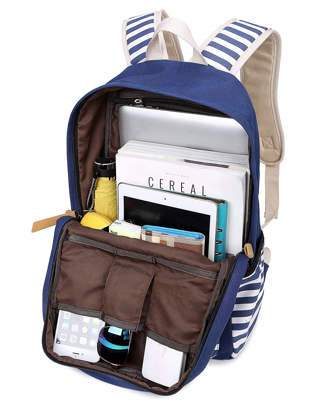 TyCan Kids Lightweight Canvas Backpack Geometry Polka Dot Casual School Laptop Shoulder Bag HomeTaste
