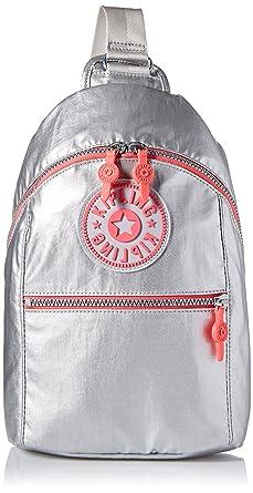 3c5649446a Amazon.com: Kipling Bente Platinum Metallic Sport Sling Backpack, m ...
