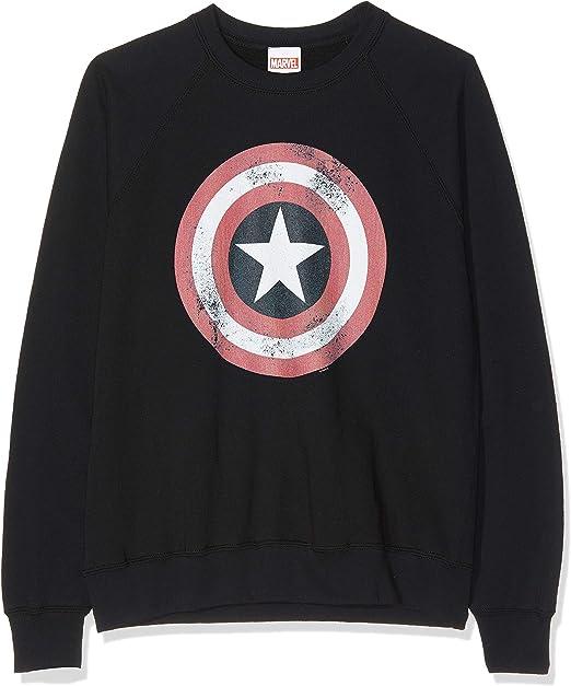 Marvel Avengers Captain America Distressed Shield T Shirt