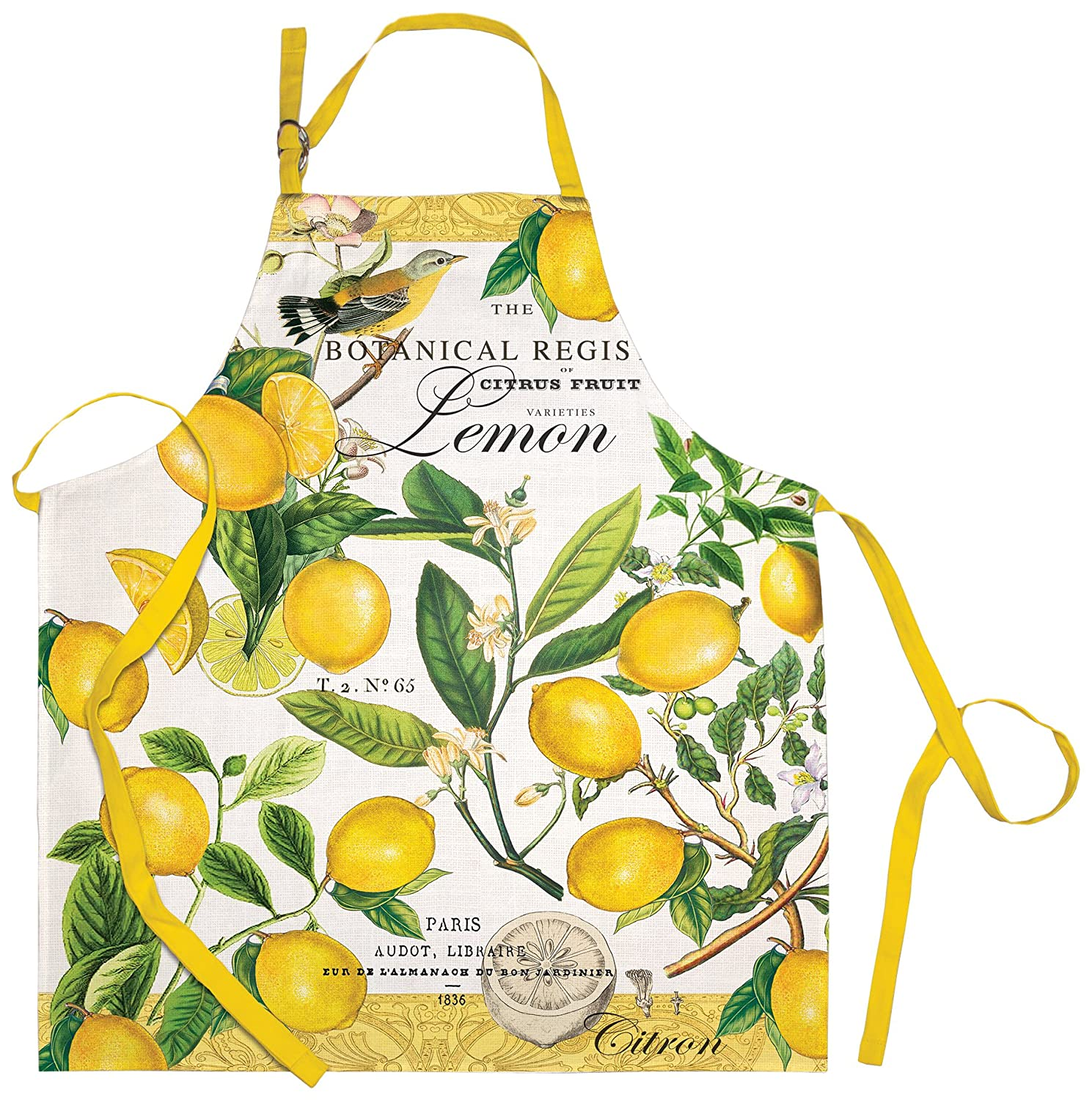 Michel Design Works Cotton Chef Apron, Lemon Basil
