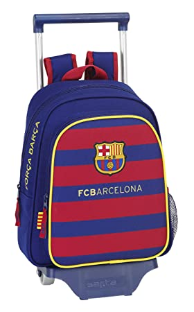 Safta FC Barcelona Mochila Infantil con Ruedas, 28 x 34 x 10 cm, Color Azul Marino: Amazon.es: Equipaje