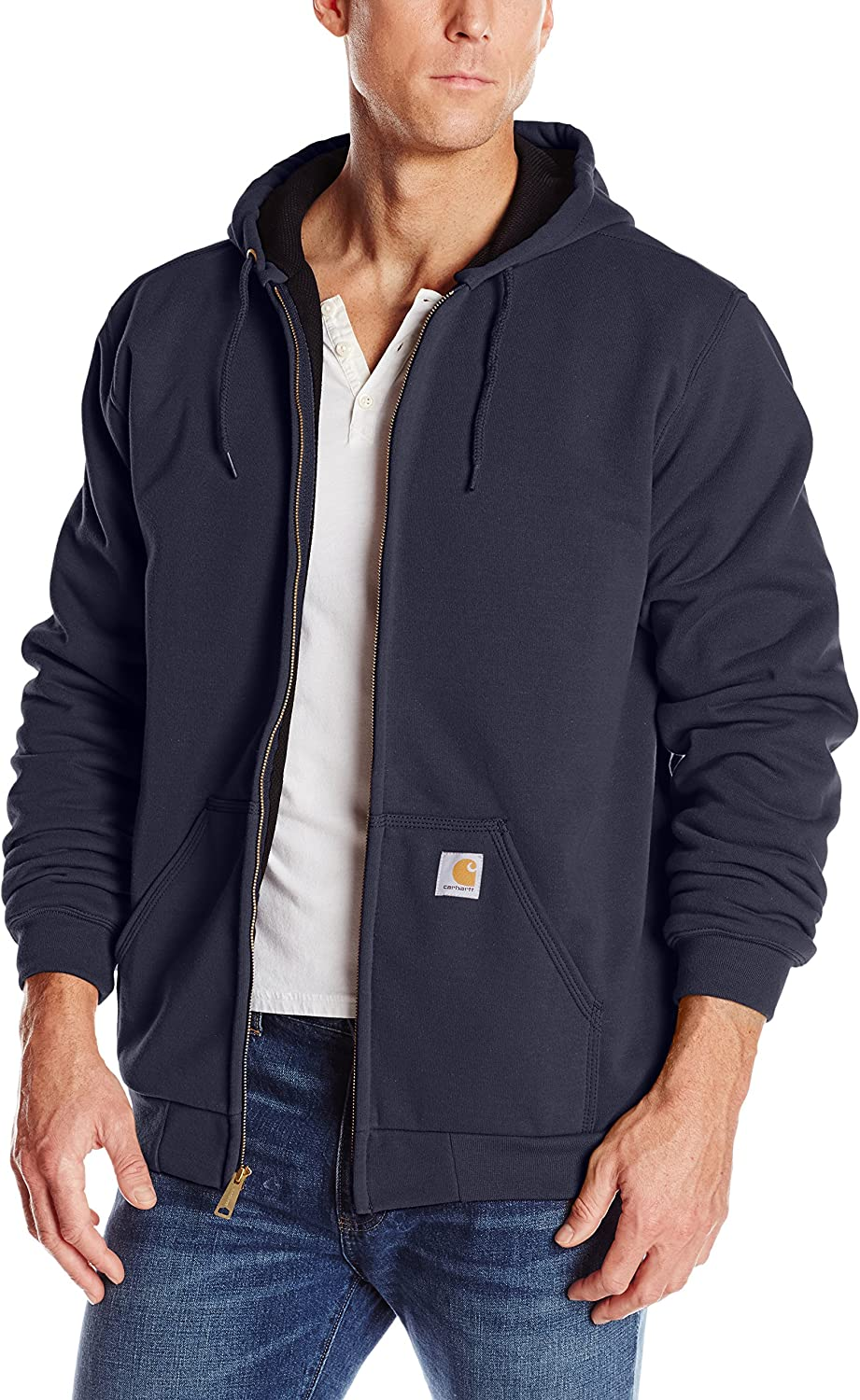 Carhartt Men's Big & Tall Rutland Thermal Lined Zip Front Sweatshirt Hoodie: Clothing