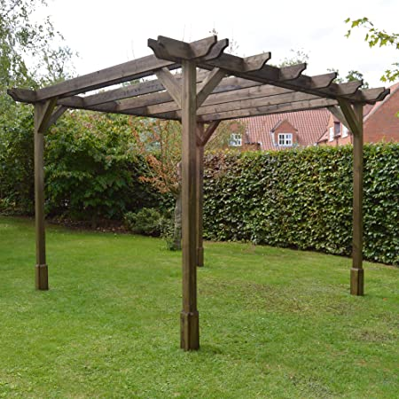 Rutland County Garden Furniture Pérgola Doble Premium, Disponible en 5 tamaños y 2 Colores.: Amazon.es: Jardín