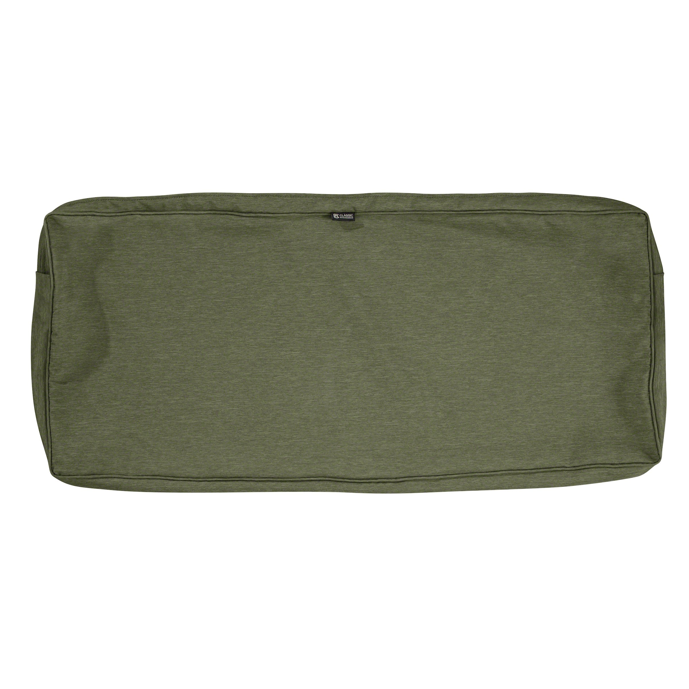 Classic Accessories Montlake Patio FadeSafe Bench Cushion Slip Cover, Fern, 59'' Wx18 Dx3 T