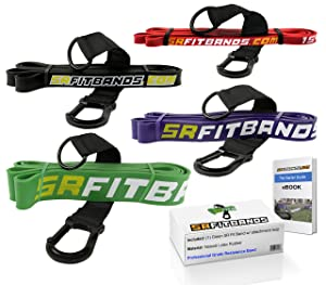 Resistance Band Training Kit | Professional grade bands for Athletes, Teams, Bodybuilding, Powerlifting or Crossfit | Choose Single Band or Set