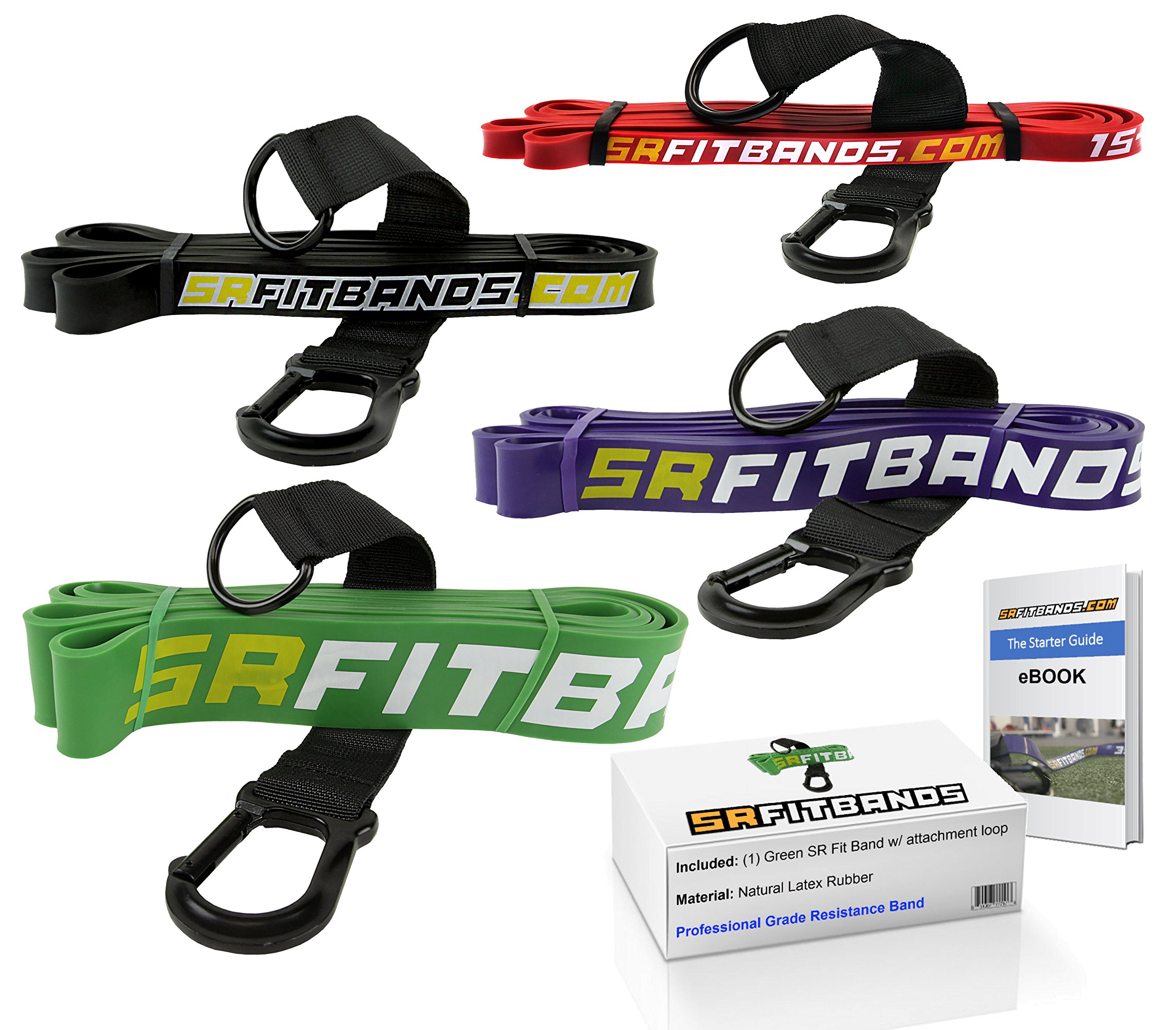 Resistance Band   Exercise Band   Fitness band: featuring the SR fit band attachment loop   Single Resistance Band - 41'' loop (Green   50-125 lbs)