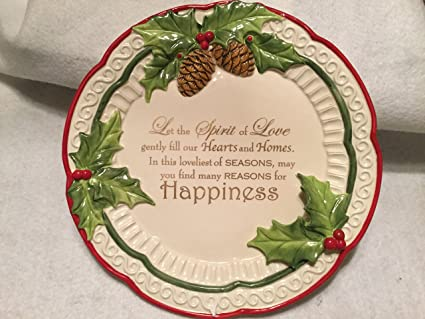 Cracker Barrel Christmas.Amazon Com Cracker Barrel Christmas Decorative Plate
