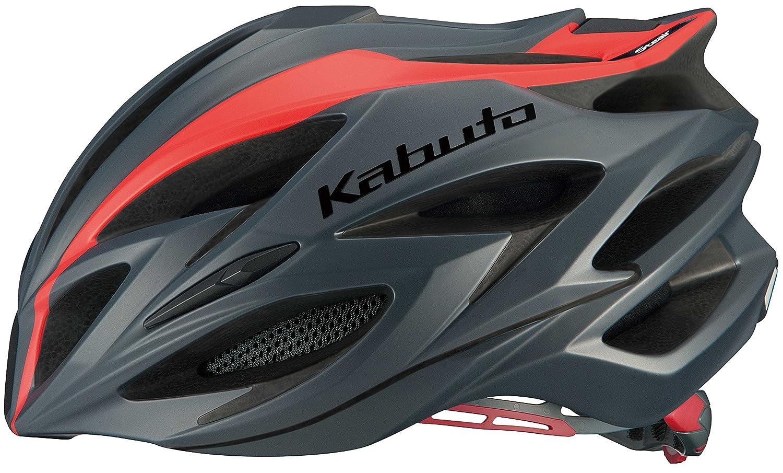 OGK KABUTO(オージーケーカブト) ヘルメット STEAIR ラインマットレッド S/M   B01MUPN3O6