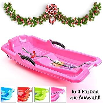 Turbo Slign - Trineo con Frenos ✅ ✅ Trineo de plástico para niños/niños pequeños/Adultos, Rosa: Amazon.es: Deportes y aire libre
