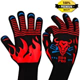 BBQ Gloves - Grill Accessories - Premium BBQ Grill Accessories - Best Cooking Gloves - Grill Gloves - Grilling Gloves - Fireproof Gloves - Grilling Accessories for Men Women - Barbecue Gloves