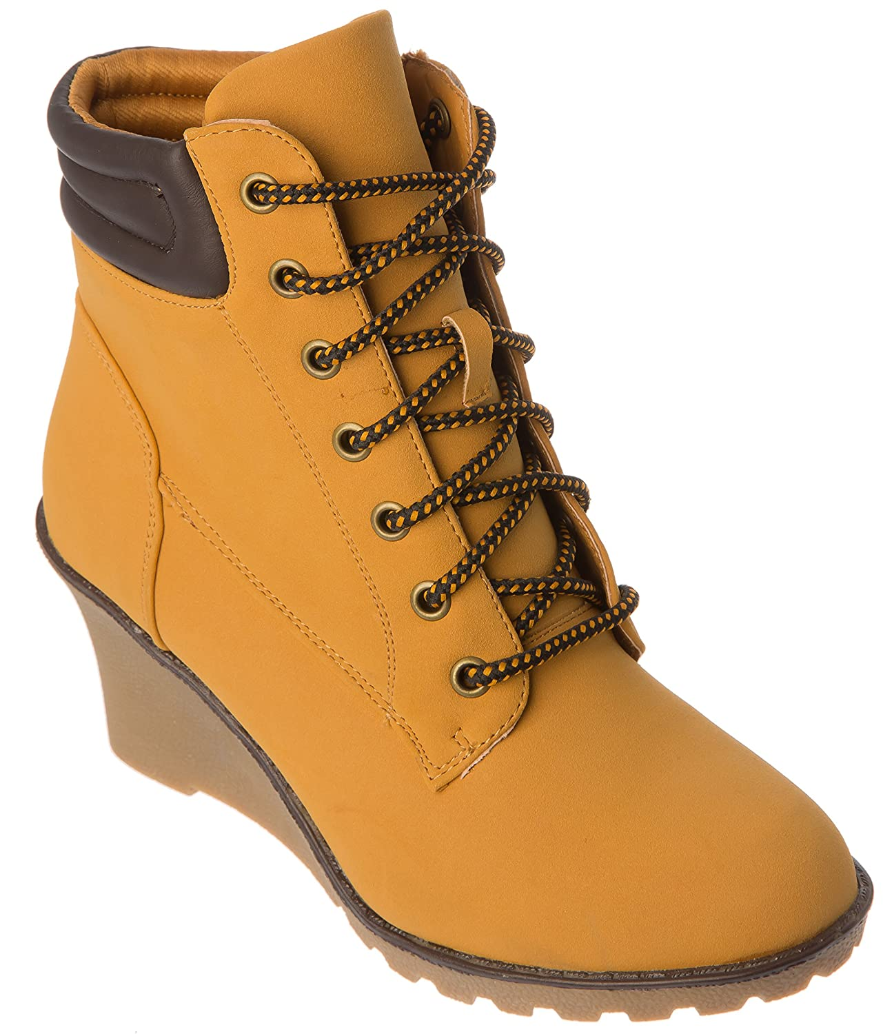 Womans Western Wedge Heel Boots Modern, Casual, Fashion Shoes