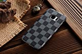 HeiL S7 TPU (Fast US Deliver Guarantee Fulfilled by Amazon) New Elegant Luxury PU Leather Checker Pattern Classic Style Cover Case for Samsung Galaxy S7 s 7 ONLY