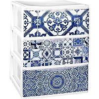 TODO HOGAR - Cajonera Apilable Plastico - Modelo Iris - Decorado Alhambra (Largo-380 Ancho-370 Alto-473)