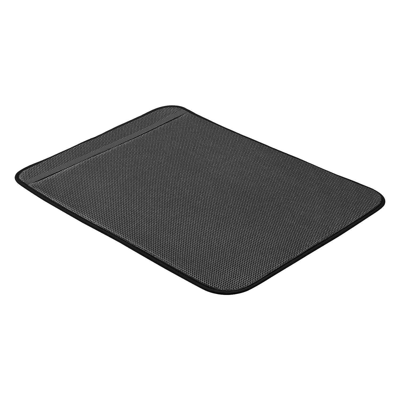 47,7 x 60,9 cm- colore: nero Basics Tappetino scolapiatti confezione da 2