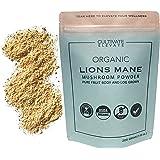 USDA Organic Lions Mane Mushroom Powder - 100 Servings - Log Grown 100% Fruit Body, Vegan, Memory, Focus, Cognition, Mental C