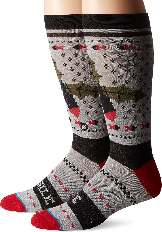 Stance Mens Crew Socks Slay Ride Holiday New