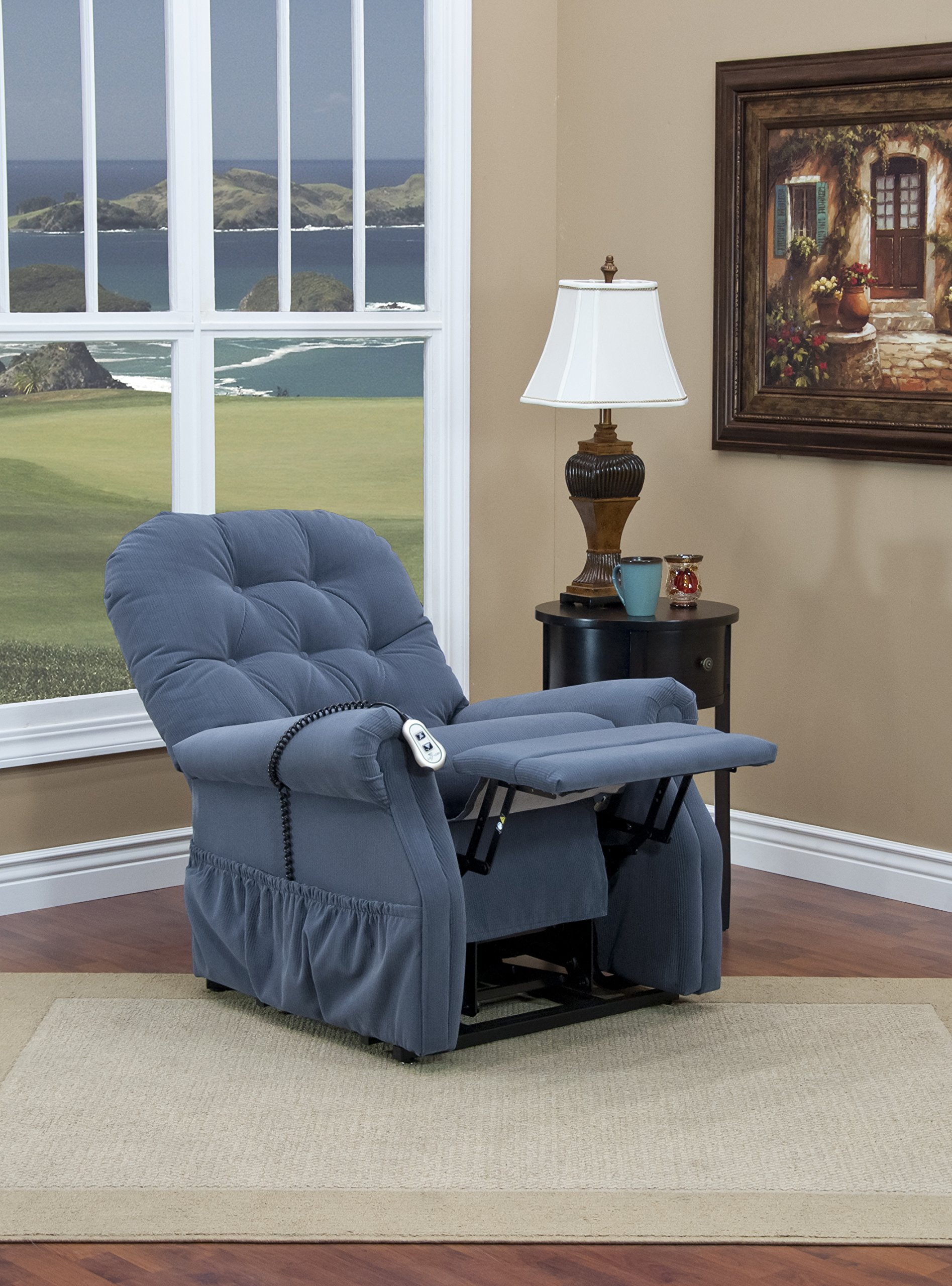 Medlift 2555-AAW Aaron Two-Way Reclining Lift Chair, Williamsburg Blue