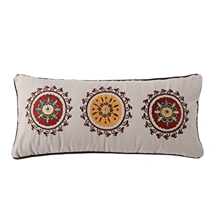 Amazon Greenland Home Andorra Decorative Neck Roll Pillow Home Adorable Decorative Roll Pillows