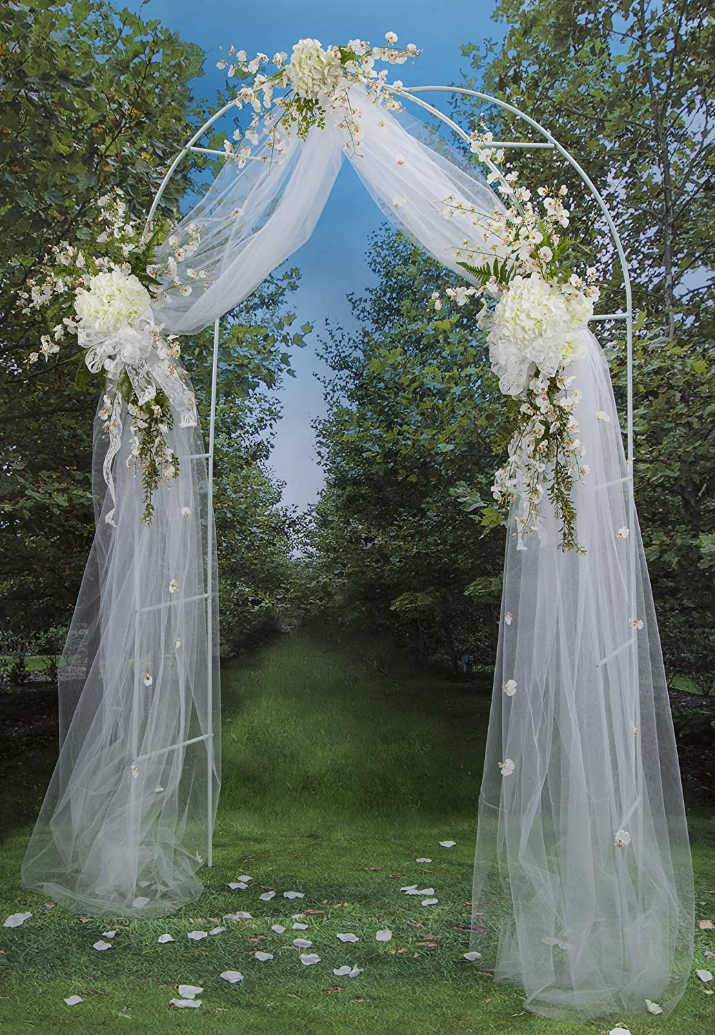How To Make Diy Lighted Wedding Columns.Darice 5209 06 Victoria Lynn Lighted Decorative Wedding Arch 8 Feet White