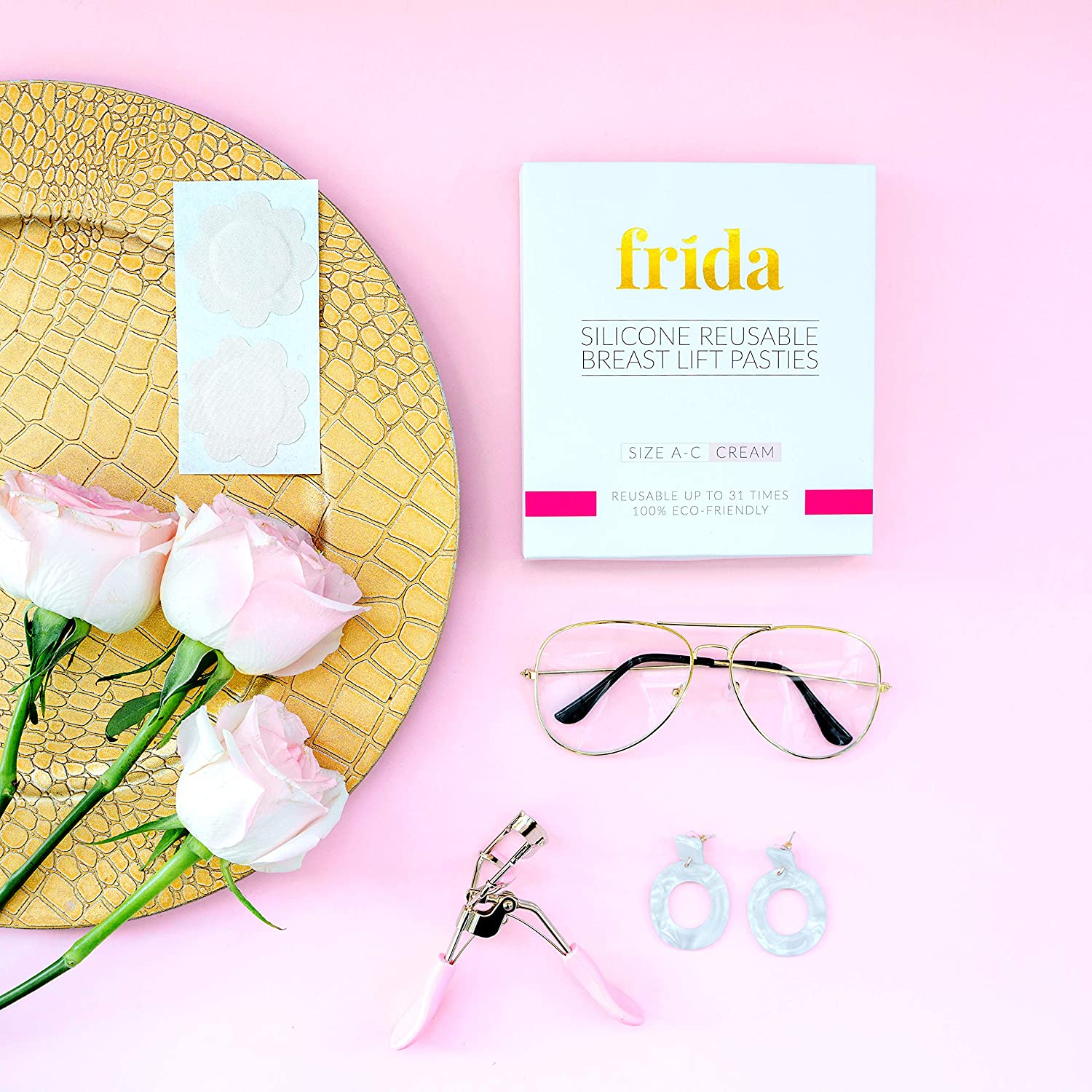 Tape FRIDA A-D Cup Instant Silicone Breast Lift Nipplecovers 4.3inch Pasties