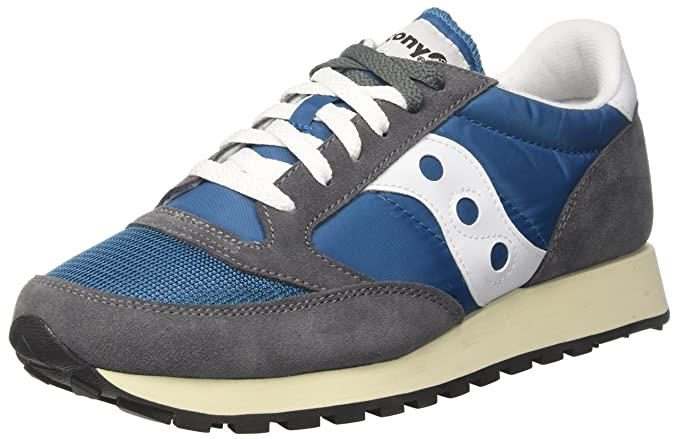 Saucony Jazz Original Vintage, Zapatillas de Cross para Hombre, Blanco (White/Navy 12), 41 EU