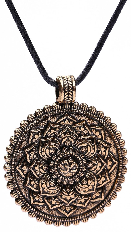 fishhook Wicca, runde Yoga Balance Blume des Lebens, Om-Halskette GeXiang