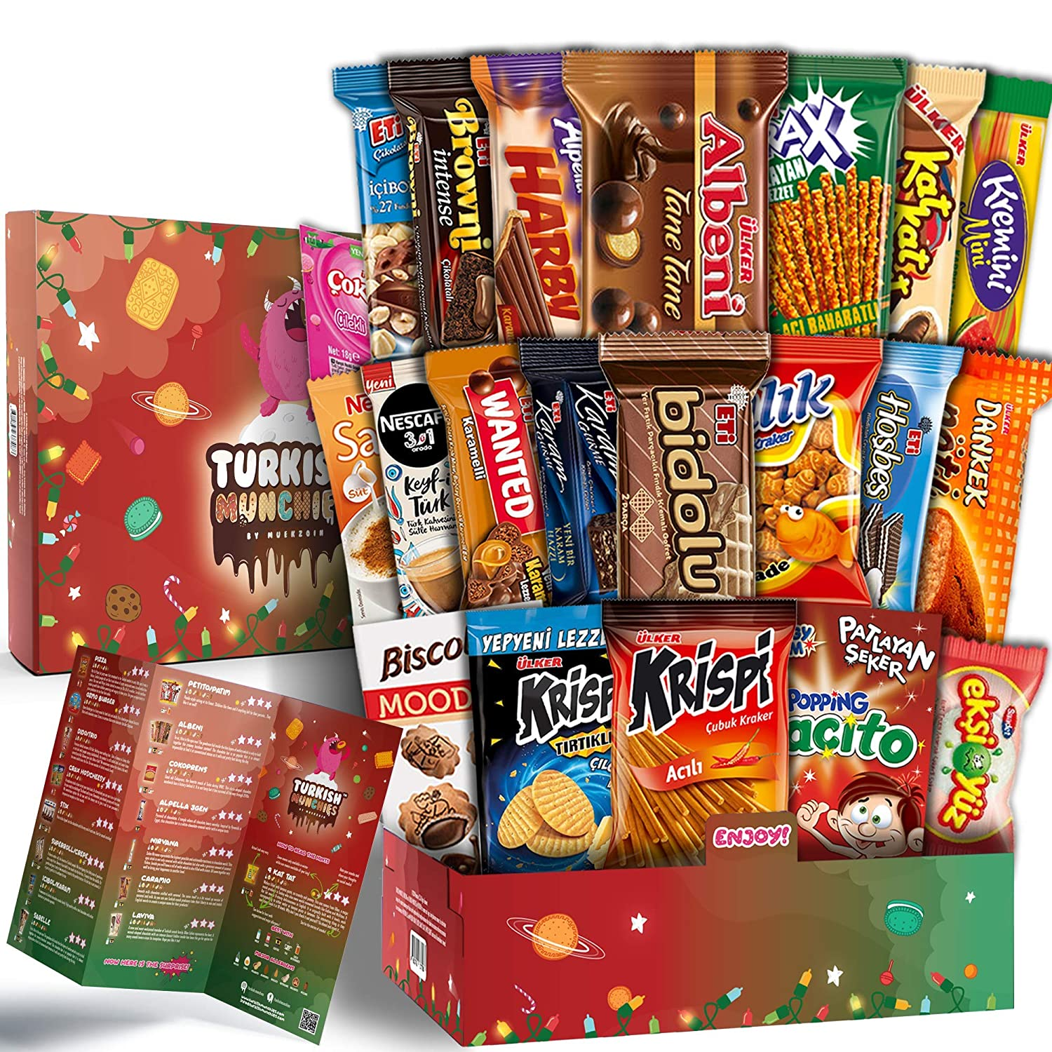 Maxi Celebration Premium International Snacks Variety Pack Care Package for Special Events, Ultimate Assortment of Turkish Treats, Mix variety pack of snacks, Foreign Candy or Foreign Snacks Box