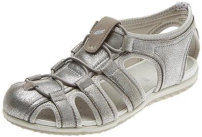 e9395553b208fb Geox D Vega D, Sandales Bout Ouvert Femme: Amazon.fr: Chaussures et Sacs