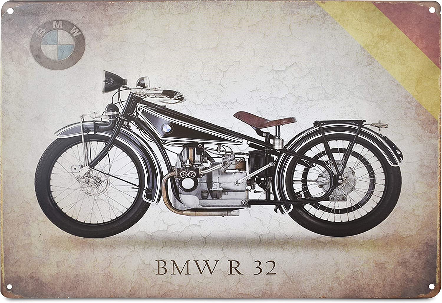 K&H BMW R32 Motorcycle Retro Metal Tin Sign Posters Wall Decor 12X8-Inch (BMW R32)