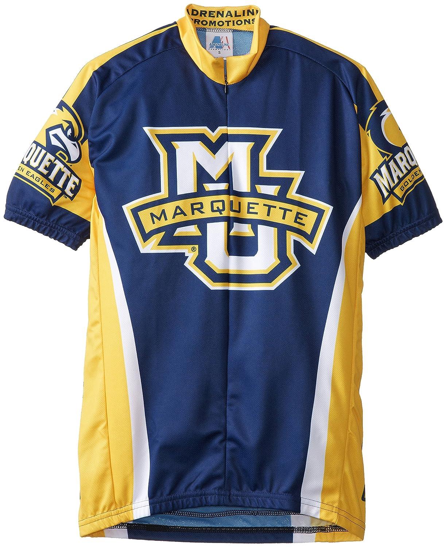 Adrenaline Promotions NCAA Marquette Herren Radtrikot, Blau Gold