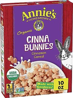 Annie's Gluten Free, Organic Cinnabunnies Cinnamon Cereal, 10 oz