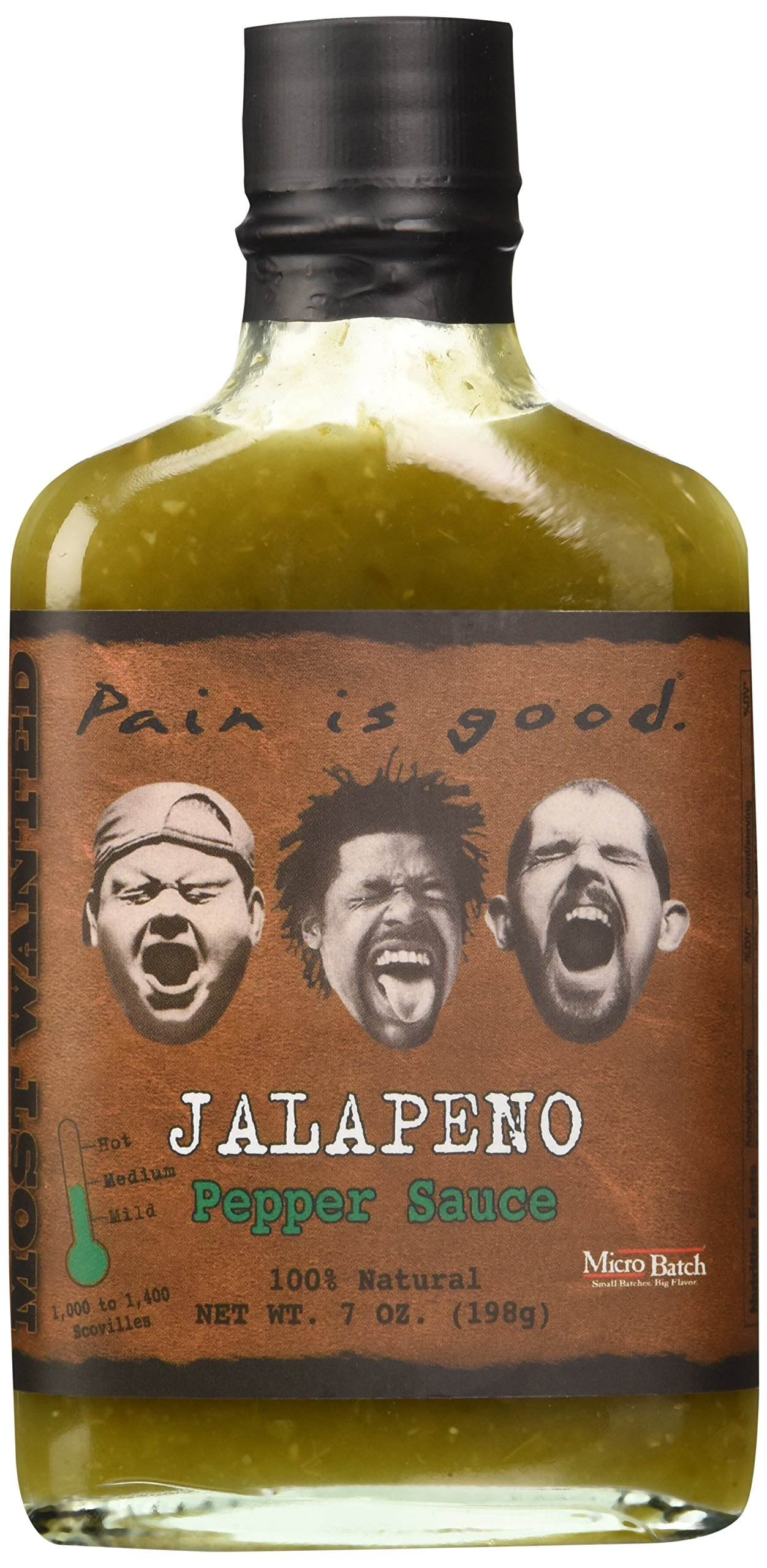 Pain Is Good Jalapeno Pepper Sauce, Medium, 7 Ounce