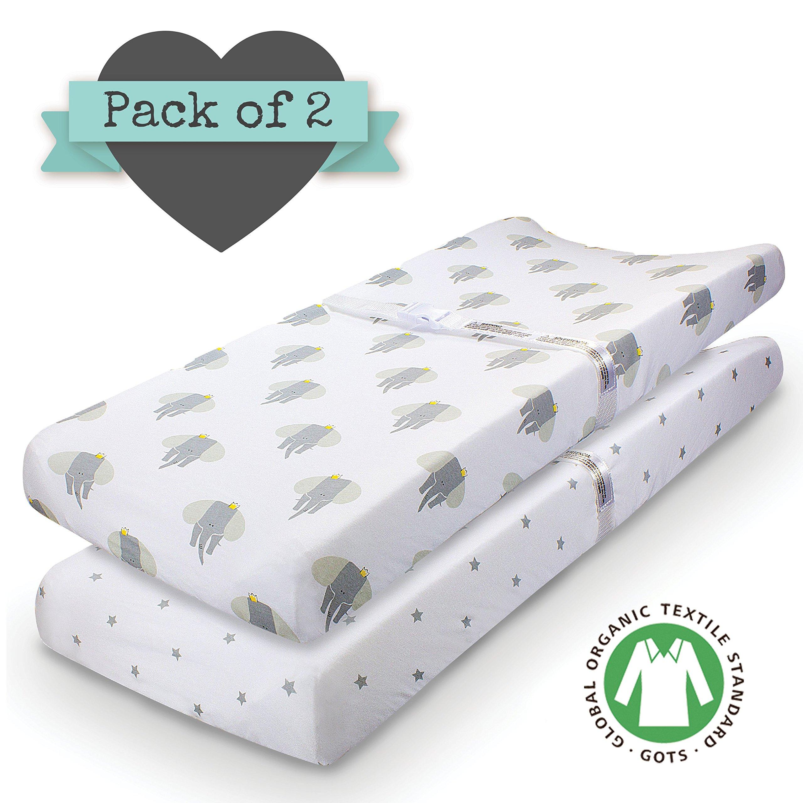 Amazon Crib sheets ORGANIC JERSEY COTTON 2pk Uni