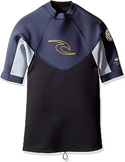 Amazon.com  Rip Curl Dawn Patrol Short Sleeve Jacket (Black Black ... 6b4174052