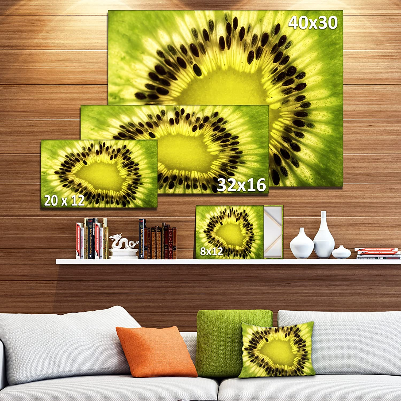 Amazon.com: Design Art PT14691-48-28-4P Green Kiwi Seeds & Inside ...