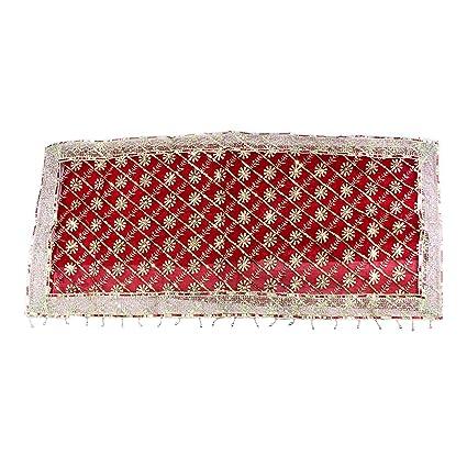 The Holy Mart Net Durga Maa Full Jari Chunari (40x17Inches, Red)