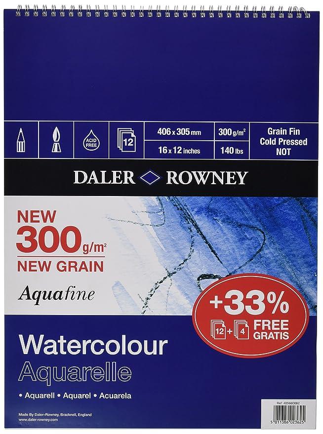 """Daler Rowney Aquafine Jumbo Watercolour Pad 12 x 9/"""""""