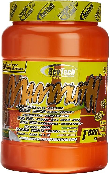 Revtech Mammuth Carbohidratos y Proteína, Sabor a Piña - 1000 ...