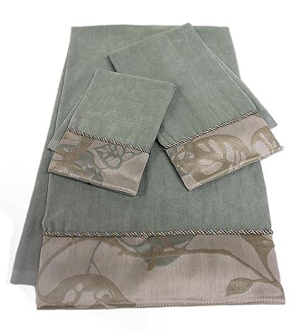 Sherry Kline Jerez Kline 3 piezas Paradisio decorativo juego de toallas