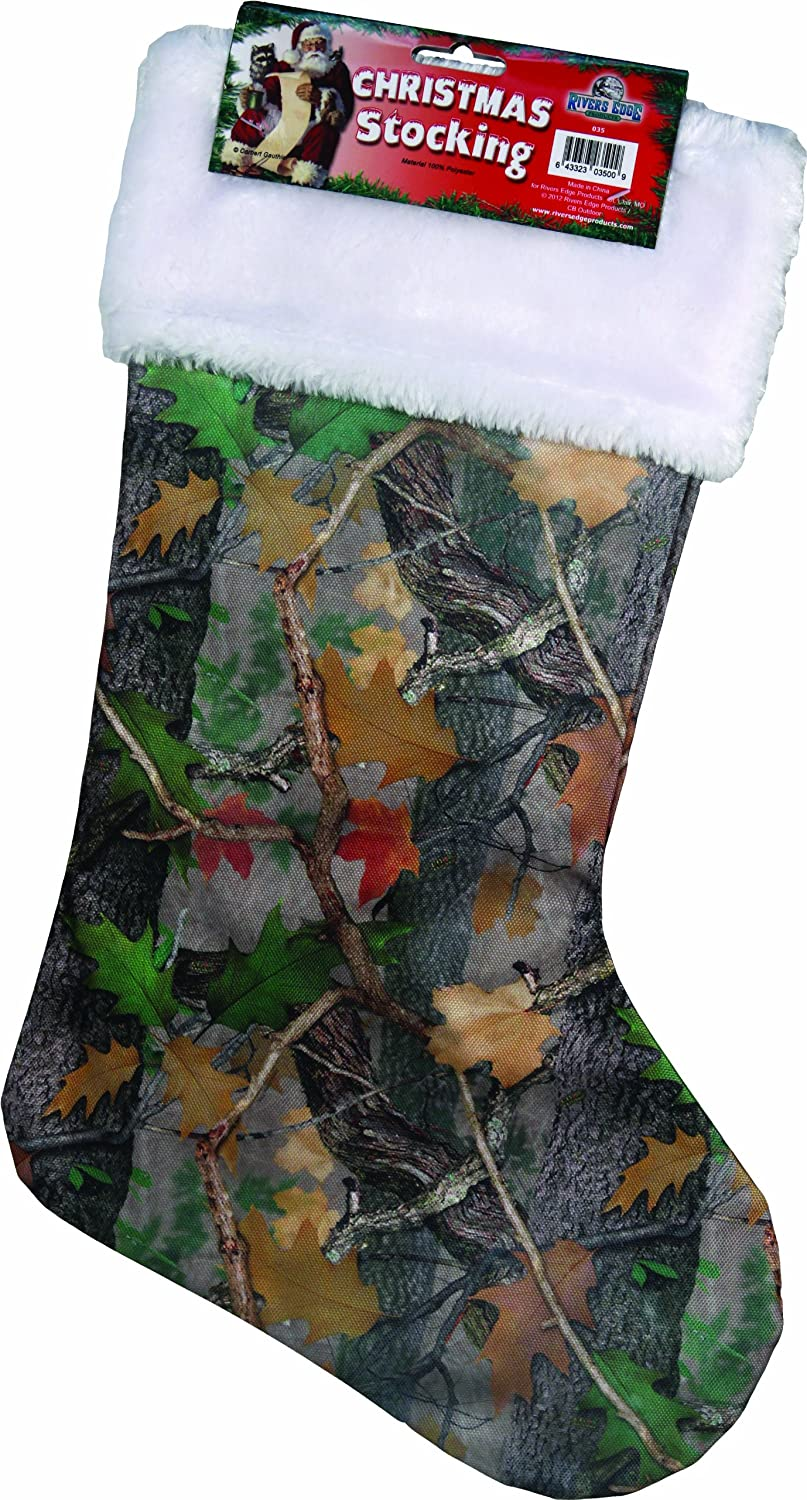 Rivers Edge Products Christmas Stocking, Camo, 20-Inch, Clothing ...
