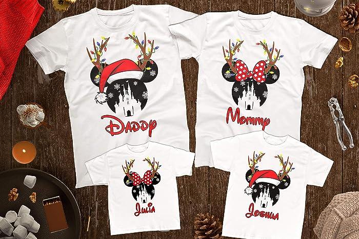 b930f727c Disney Christmas Matching Shirts For Whole Family, Christmas Disney Trip  Family Shirts, Disney Mickey's Very Merry Christmas Shirts, Reindeer  Antlers Custom ...